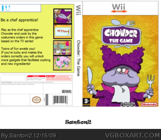 Chowder: The Videogame box art cover