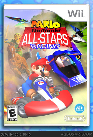 Mario and Nintendo All-Stars Racing box art cover