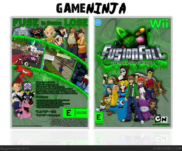 FusionFall box art cover