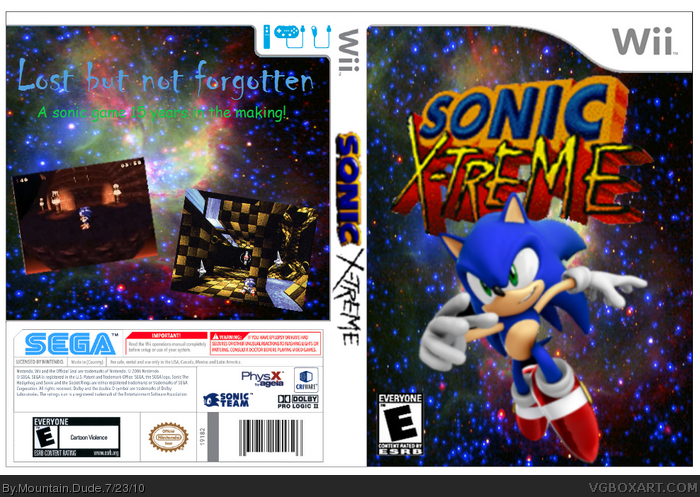Sonic Xtreme box art cover