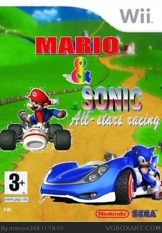 Mario & Sonic All-stars Racing box cover