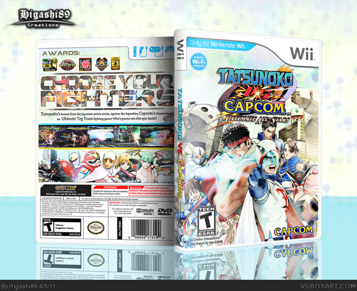 Tatsunoko vs Capcom: Ultimate All-Stars box art cover