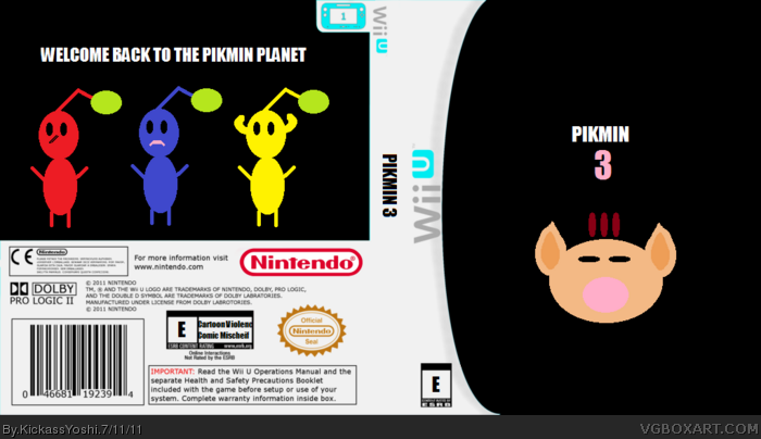 Pikmin 3 Wii Box Art Cover By Kickassyoshi