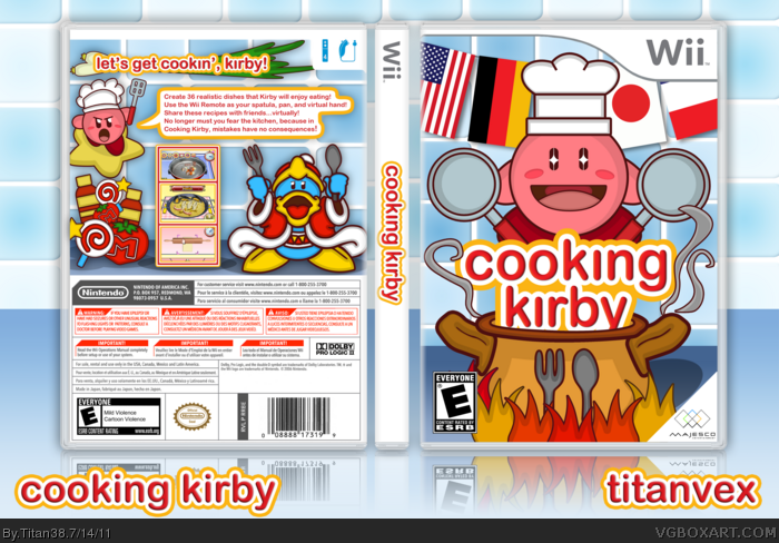 Cooking Kirby box art cover