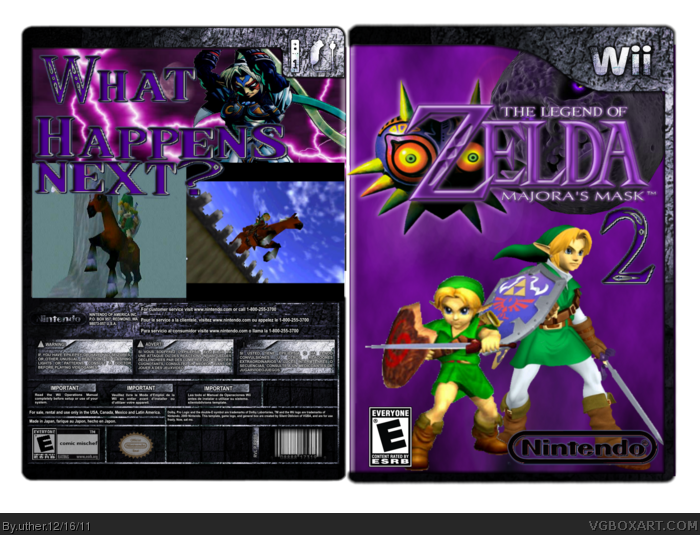 The Legend of Zelda: Majora's Mask 2 box art cover
