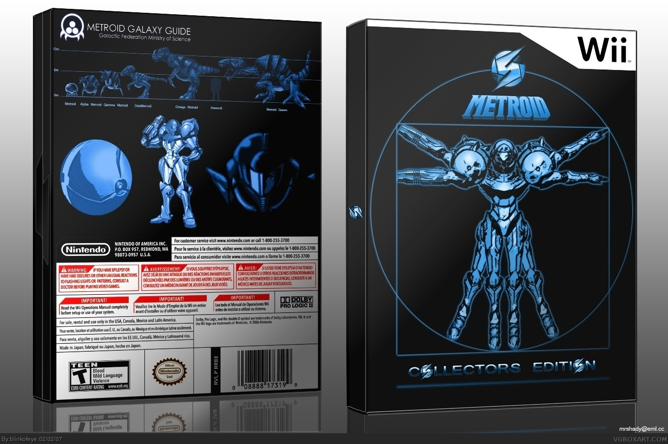 Metroid box cover