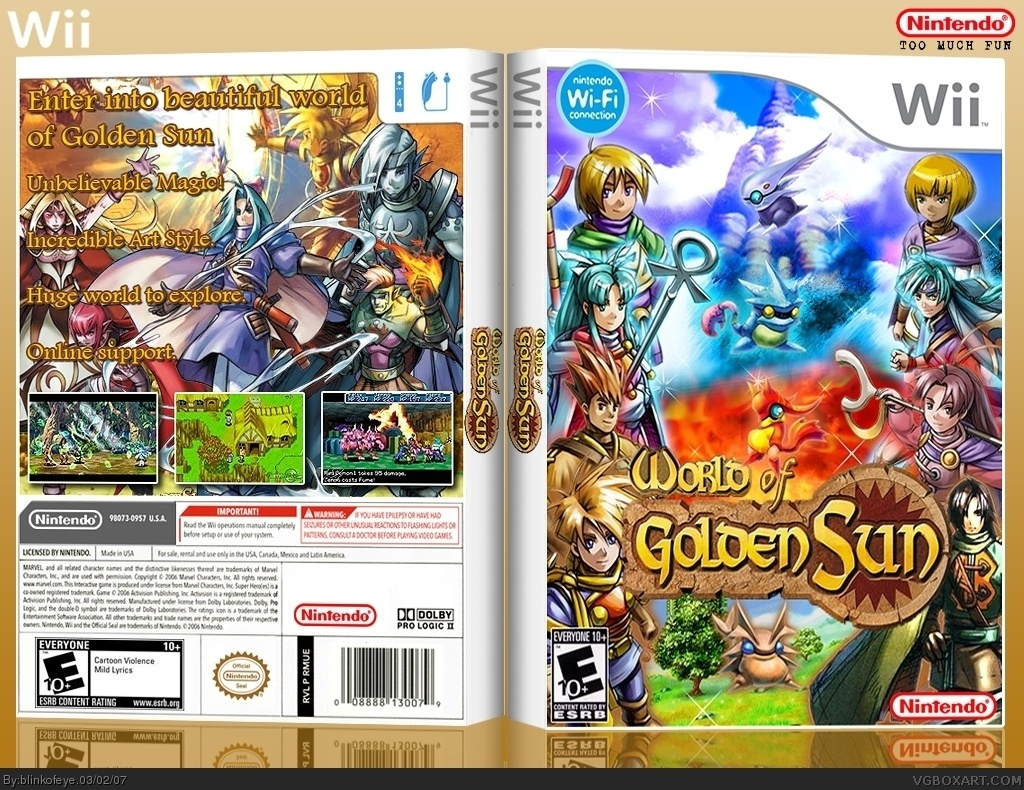 World of Golden Sun box cover