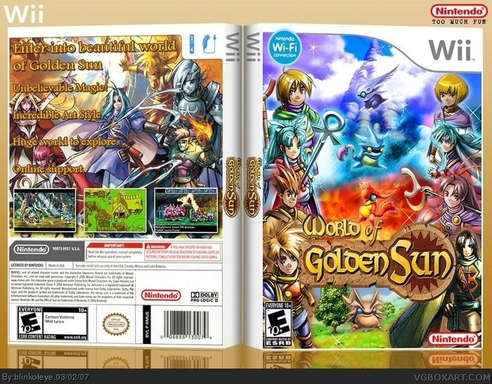 World of Golden Sun box art cover