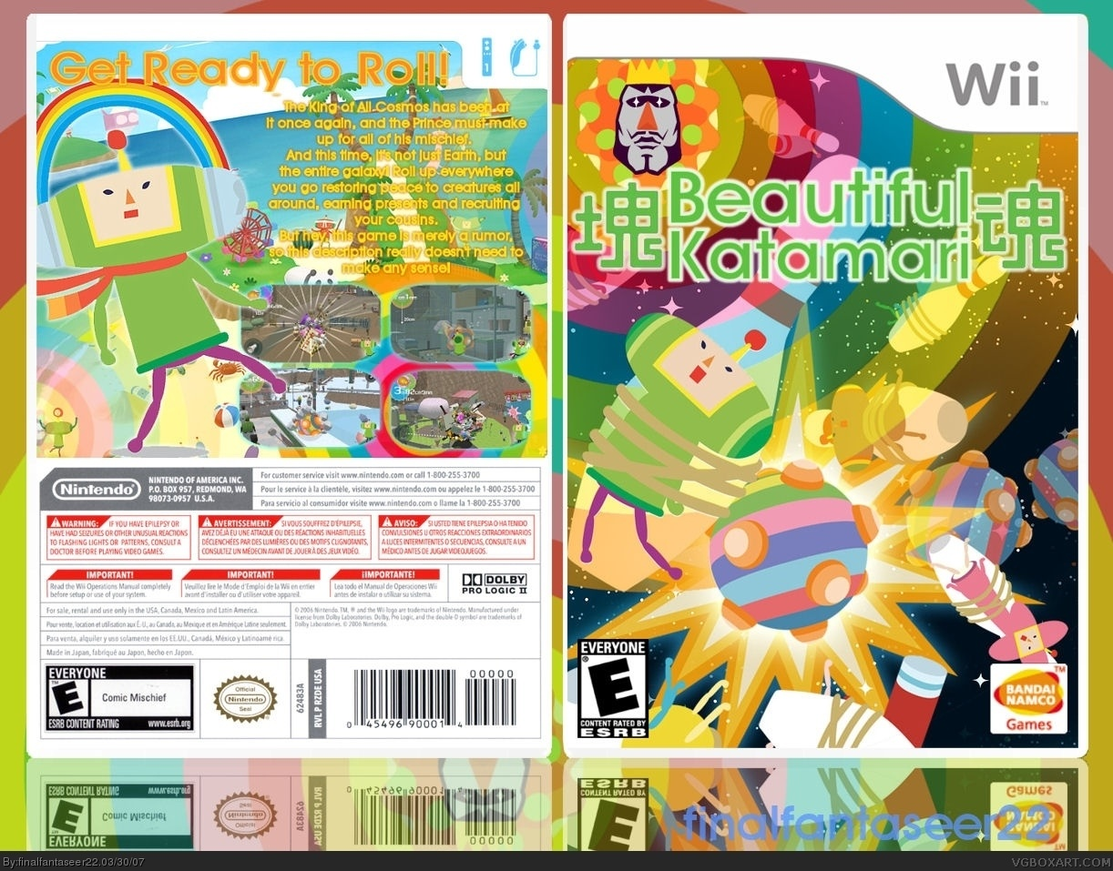 Beautiful Katamari box cover