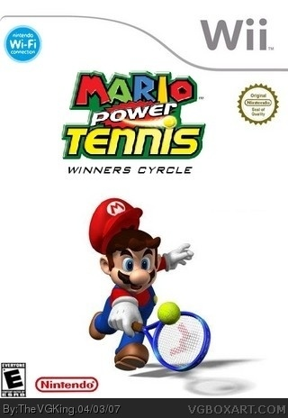 Mario Power Tennis box cover