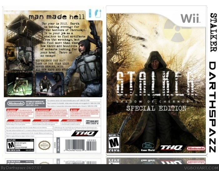S.T.A.L.K.E.R.: Shadow of Chernobyl Collector's Edition box art cover