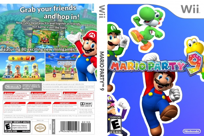 Mario Party 9 Wii Box Art Cover By Deadastros