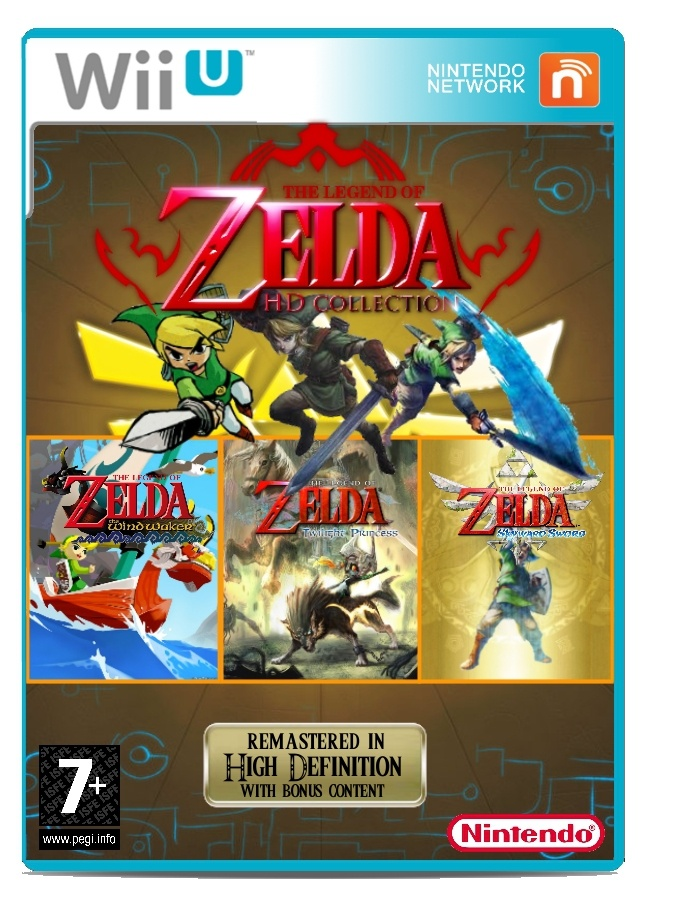 The Legend of Zelda HD Collection box cover