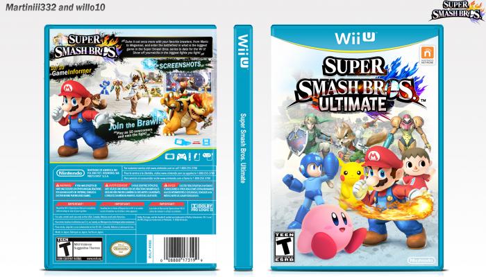 Super Smash Bros Ultimate box art cover