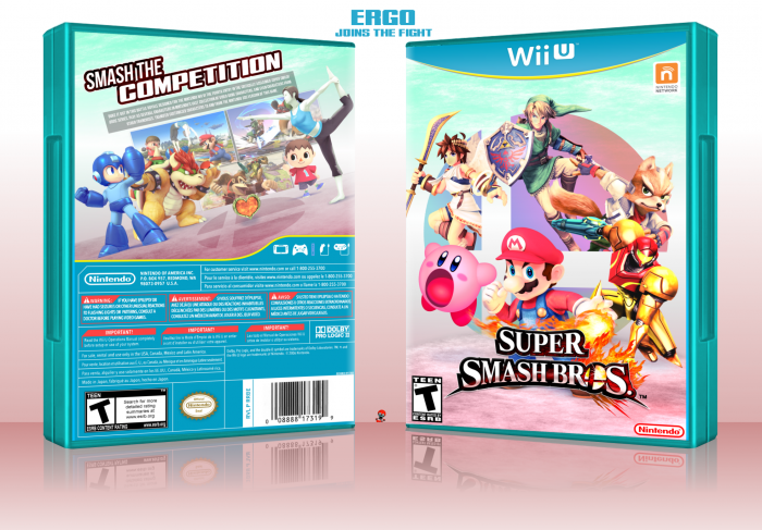 Super Smash Bros. for Wii U box art cover