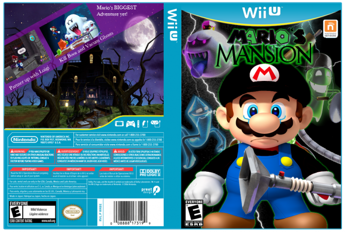Mario's Mansion box art cover