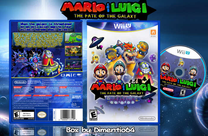Mario Luigi The Fate Of The Galaxy Wii U Box Art Cover By