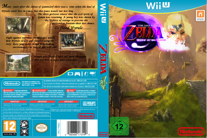 The Legend of Zelda: The Valley of the Flood box art cover