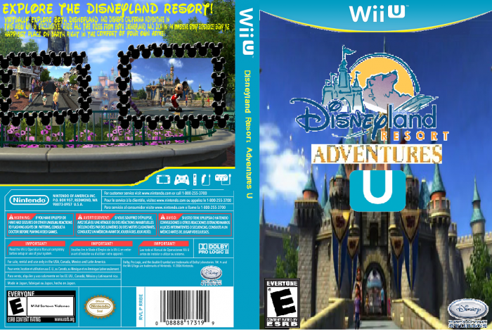 Disneyland Resort Adventures U box art cover