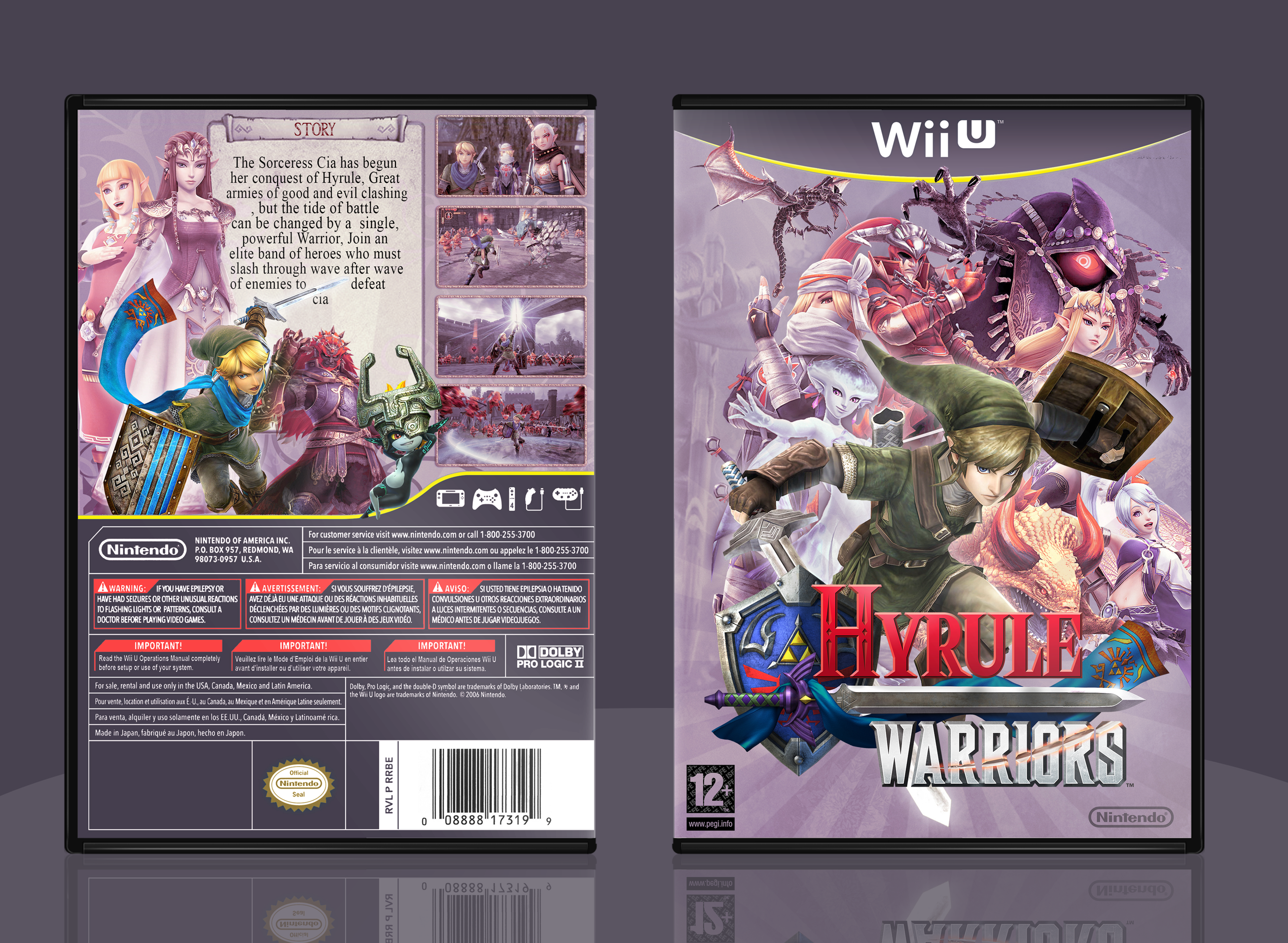 Hyrule Warriors box cover