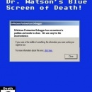 Dr. Watson's Blue Screen of Death! Box Art Cover