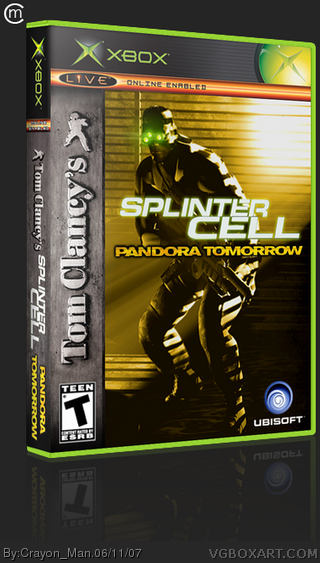Tom Clancy's Splinter Cell: Pandora Tomorrow box cover