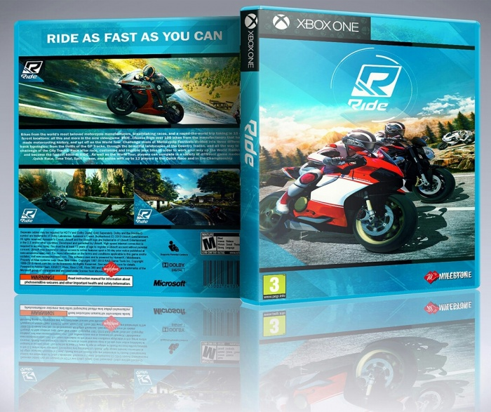Ride videogame box art cover
