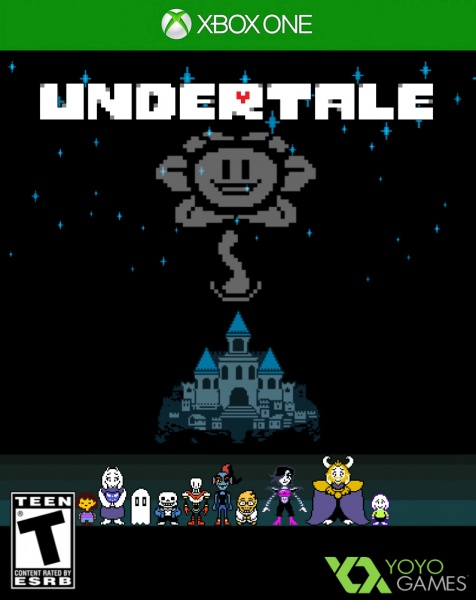undertale xbox one box art cover by broski32