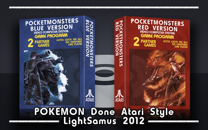 Pocket Monsters Red and Blue Versions box art cover